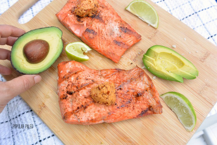 Grilled Salmon with Chipotle Butter :: Gluten-Free, Grain-Free