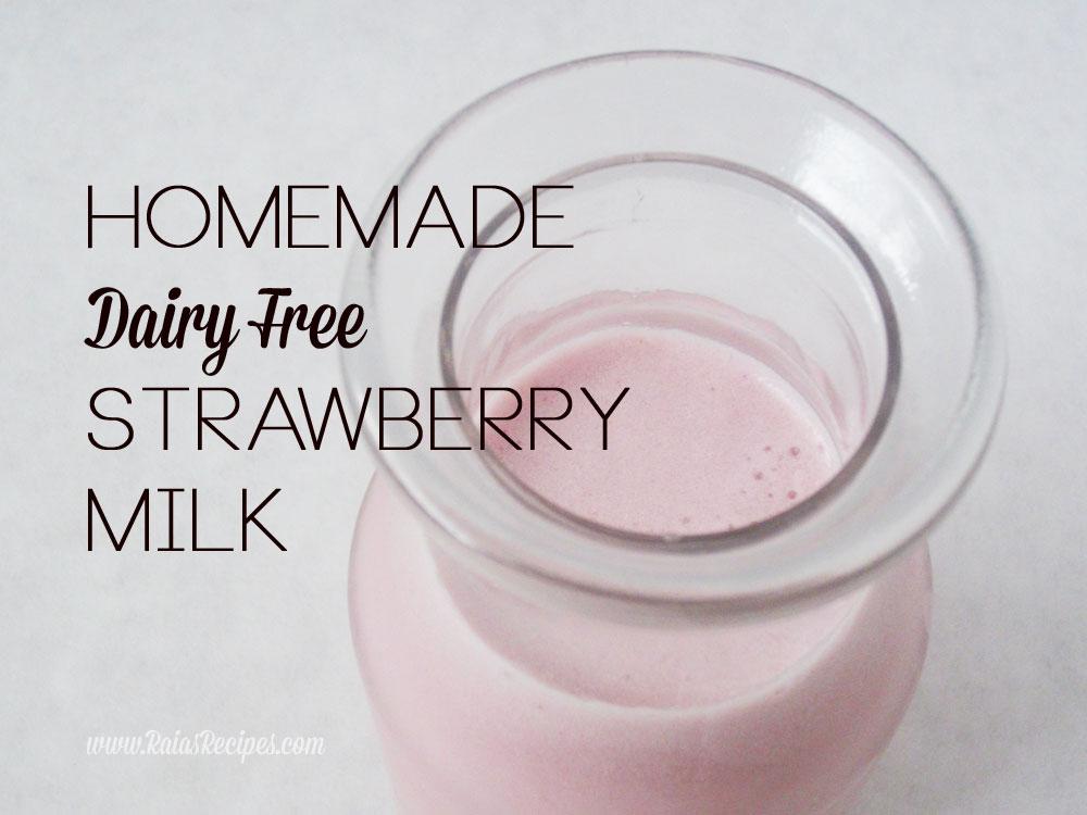 Homemade Strawberry Milk :: Dairy-Free, Autoimmune Paleo