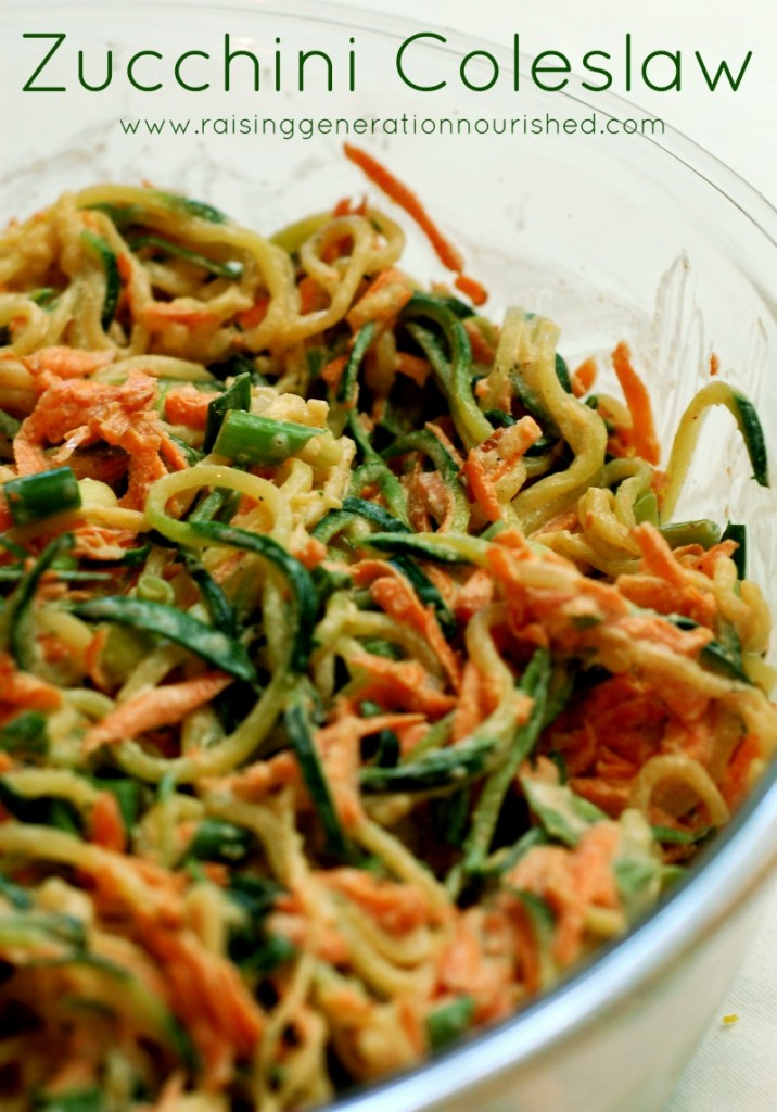 Zucchini Coleslaw :: Delicious Obesessions
