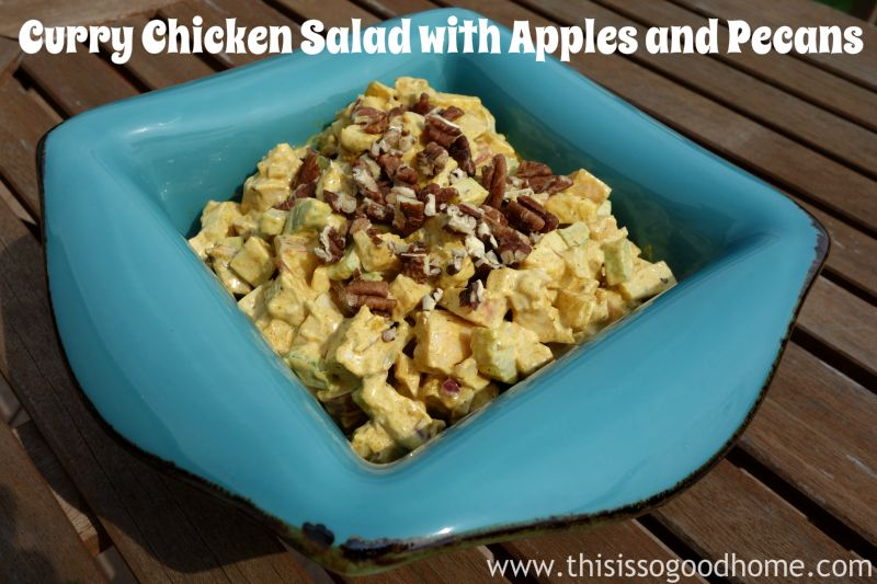Curry Chicken Salad with Apples and Pecans :: Gluten-Free, Grain-Free, Dairy-Free