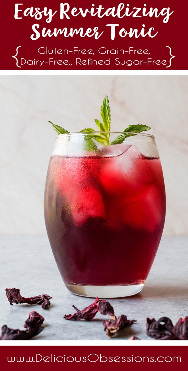 Easy Revitalizing Summer Tonic :: Gluten-Free, Grain-Free, Dairy-Free, Refined Sugar-Free // deliciousobsessions.com