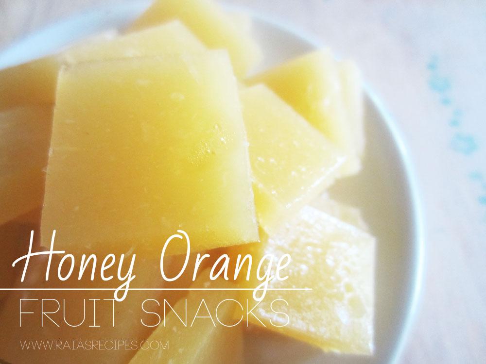 Honey Orange Fruit Snacks :: Gluten-Free, Grain-Free, Dairy-Free, Refined Sugar-Free