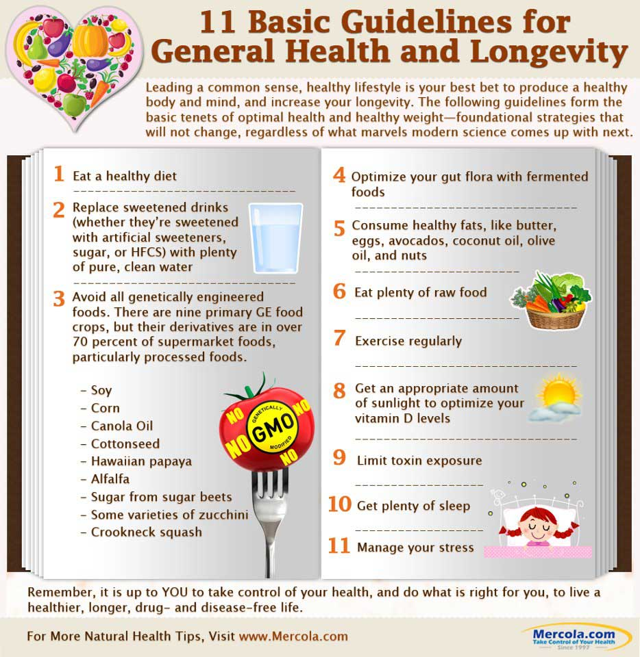 11 Basic Guidelines for General Health and Longevity // deliciousobsessions.com