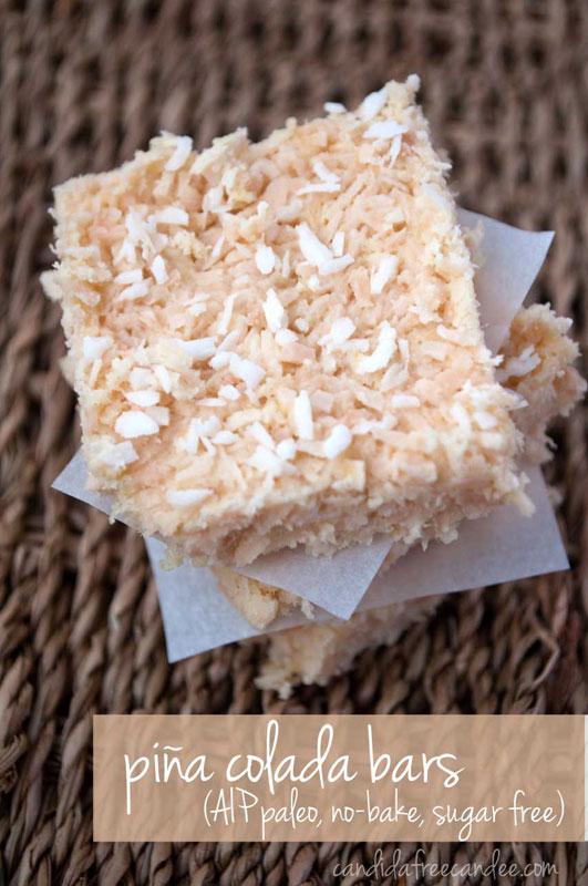 Piña Colada Bars :: Gluten, Grain, Dairy, Egg, Nut, and Seed Free, Autoimmune Paleo