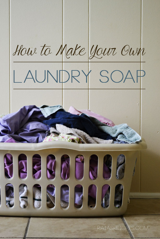 How to Make Your Own Non-Toxic Laundry Soap