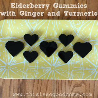 Elderberry Gummies with Ginger and Turmeric :: Gluten-Free, Grain-Free, Dairy-Free, Refined Sugar-Free