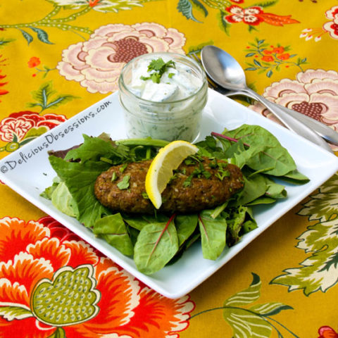 Chelo Kebabs & Cucumber Yogurt Salad {plus a book review + coupon code!} // deliciousobsessions.com