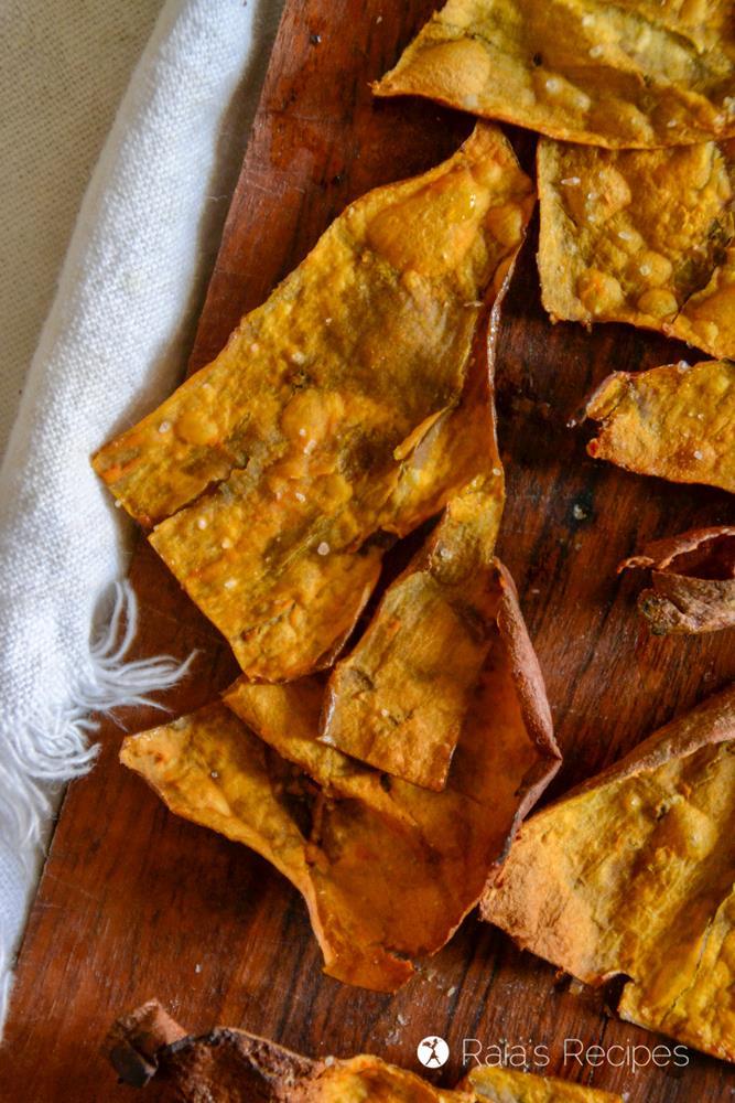 Crispy Sweet Potato Skins // deliciousobsessions.com