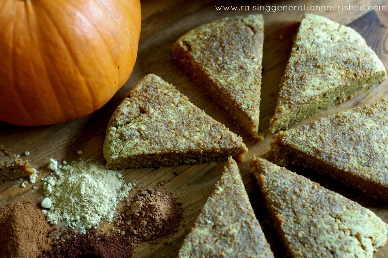 Pumpkin Scones :: Gluten and Grain Free, Dairy Free Option, Paleo / Primal