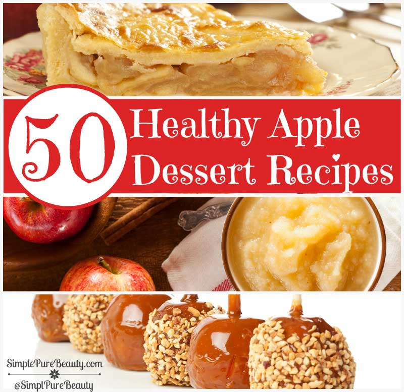50 Delicious and Healthy Apple Dessert Recipes | http://www.deliciousobsessions.com #apple #appledesserts #recipes #applerecipes
