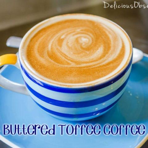 Buttered Toffee Coffee Made with Herbal Coffee // deliciousobsessions.com