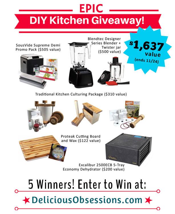 Epic DIY Kitchen Giveaway ($1,637 value)