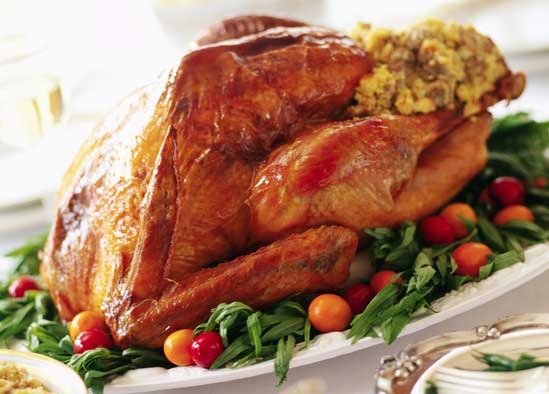 Healthy Roasted Turkey, A Holiday Menu Makeover: Simple Swaps for a Healthier Family Dinner // deliciousobsessions.com