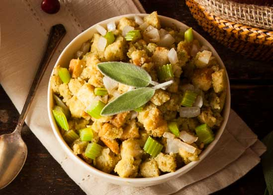 Healthy Stuffing, A Holiday Menu Makeover: Simple Swaps for a Healthier Family Dinner // deliciousobsessions.com