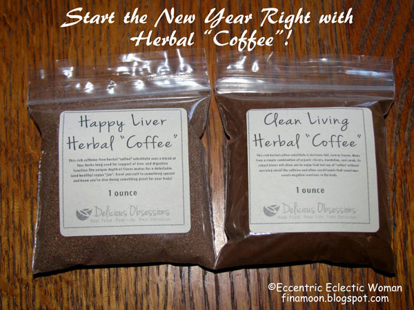 "Herbal ""Coffee"" from Delicious Obsessions for the New Year! Review and Free eBook // deliciousobsessions.com"