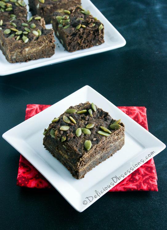 #Pumpkin Brownies :: #GrainFree, #GlutenFree, and #DairyFree, #Autoimmune #Paleo Option // deliciousobsessions.com