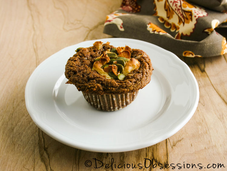 Pumpkin Cream Cheese Muffins (a Starbucks® copycat recipe) :: #GrainFree and #GlutenFree / #Primal // deliciousobsessions.com