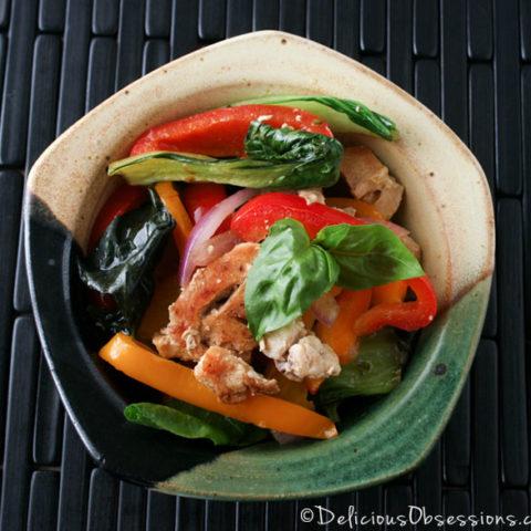 Turkey Thai Basil Recipe :: Gluten-Free, Grain-Free, Dairy-Free // deliciousobsessions.com