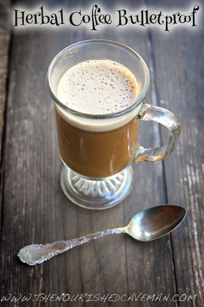 Herbal Coffee Bulletproof: A Caffeine-Free Treat! // deliciousobsessions.com