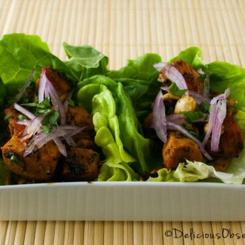 Cashew Chicken Lettuce Wraps :: Gluten-Free, Grain-Free, Dairy-Free
