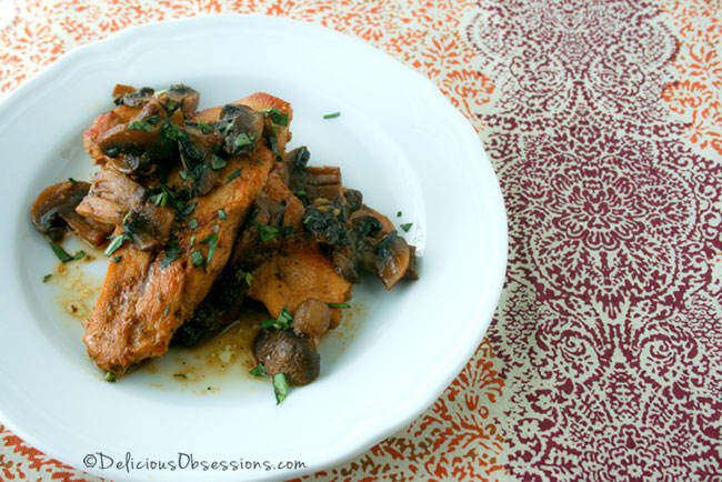 Chicken Marsala and The Wellness Mama Cookbook Review // deliciousobsessions.com