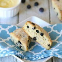 Grain-Free Blueberry Lemon Scones :: Gluten-Free, Dairy-Free Option, Refined Sugar-Free