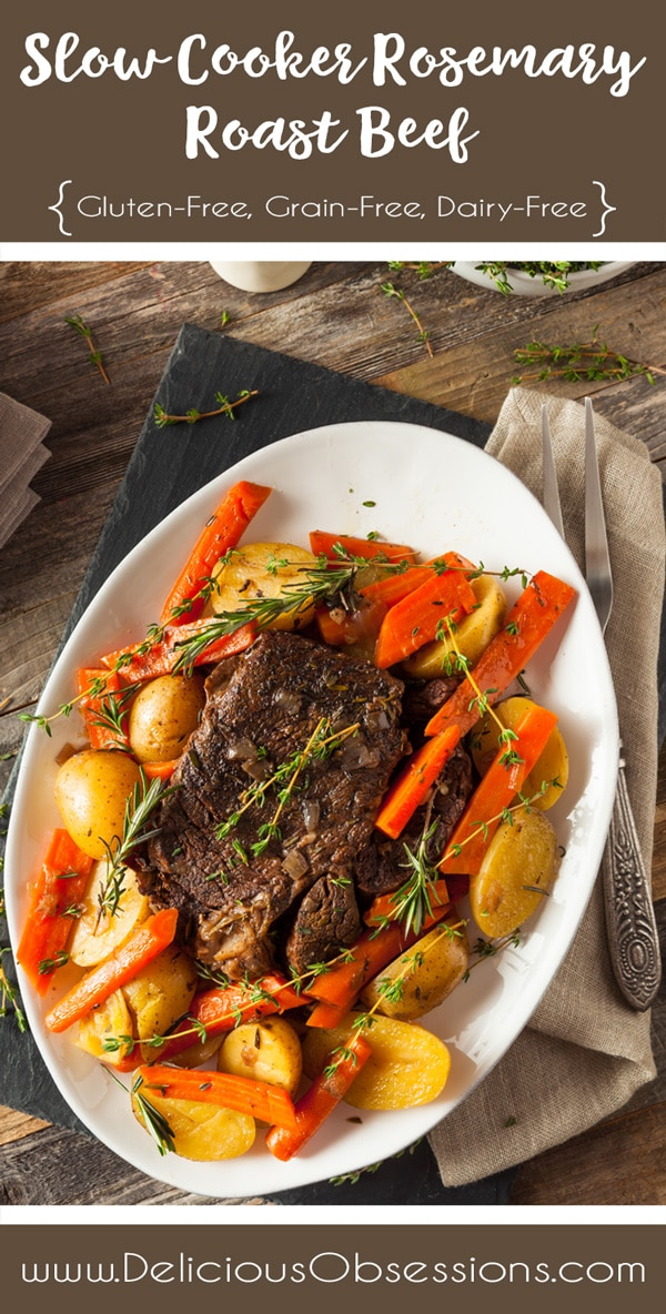 Slow Cooker Rosemary Roast :: Gluten-Free, Grain-Free, Dairy-Free // deliciousobsessions.com