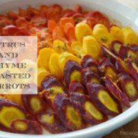 Citrus and Thyme Roasted Carrots :: Gluten-Free, Dairy-Free Option, Autoimmune Paleo Option, Vegan Option