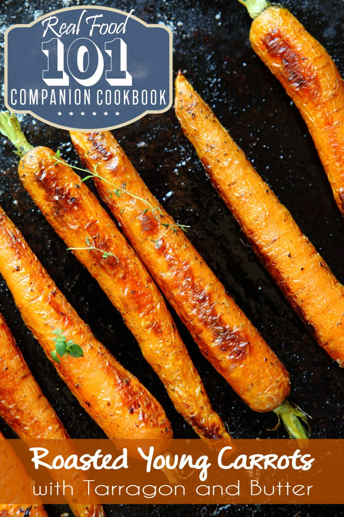 Roasted Baby Carrots With Herbs, Sea Salt, and Butter // deliciousobsessions.com