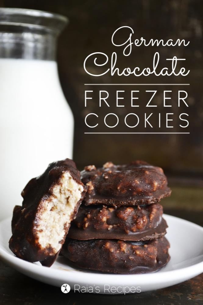 German Chocolate Freezer Cookies