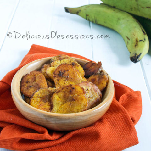How to Make Tostones (Fried Plantains) and a Sweet Spice Tostone Recipe // deliciousobsessions.com
