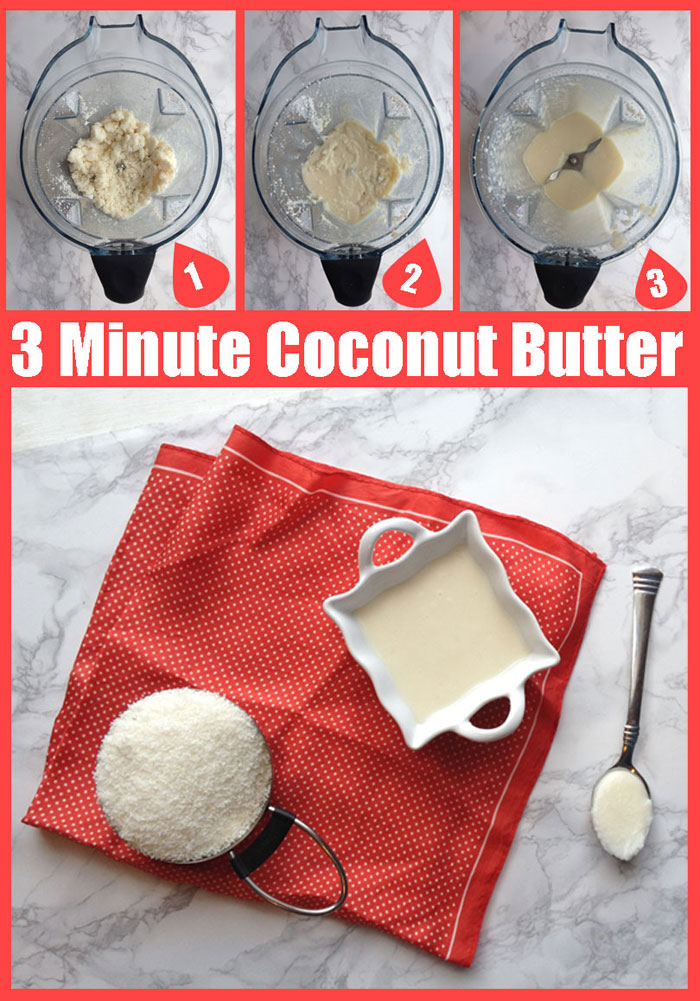 How to Make Coconut Butter (in only 3 minutes) // DeliciousObsessions.com
