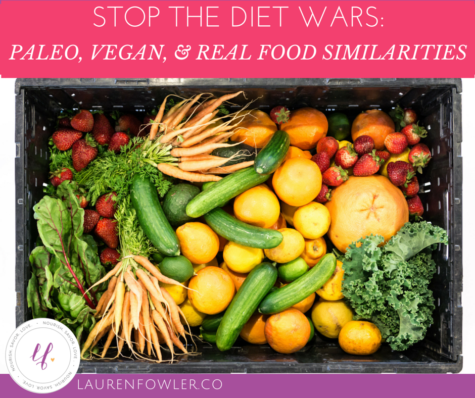 Stop the Diet Wars: Paleo, Vegan, & Real Food Similarities // deliciousobsessions.com
