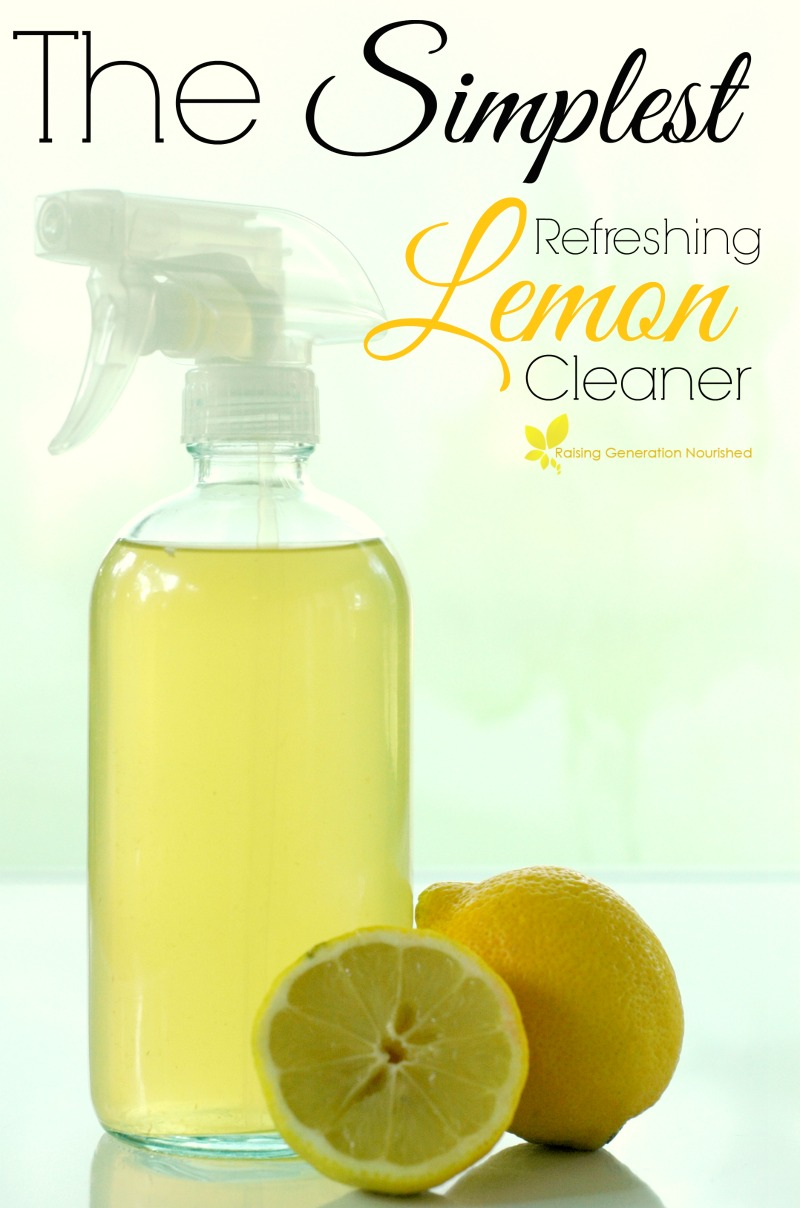 The Simplest Refreshing Lemon Cleaner