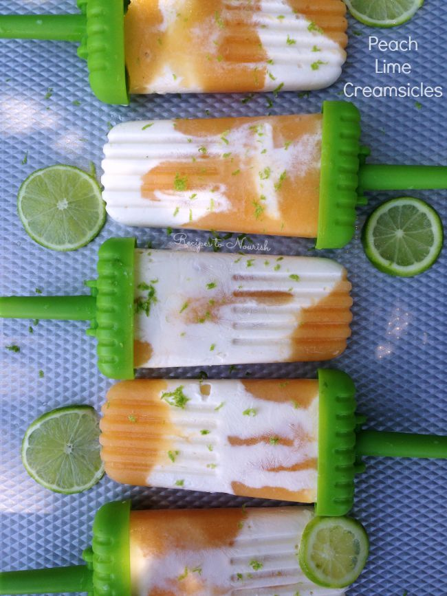 Peach Lime Creamsicles // deliciousobsessions.com