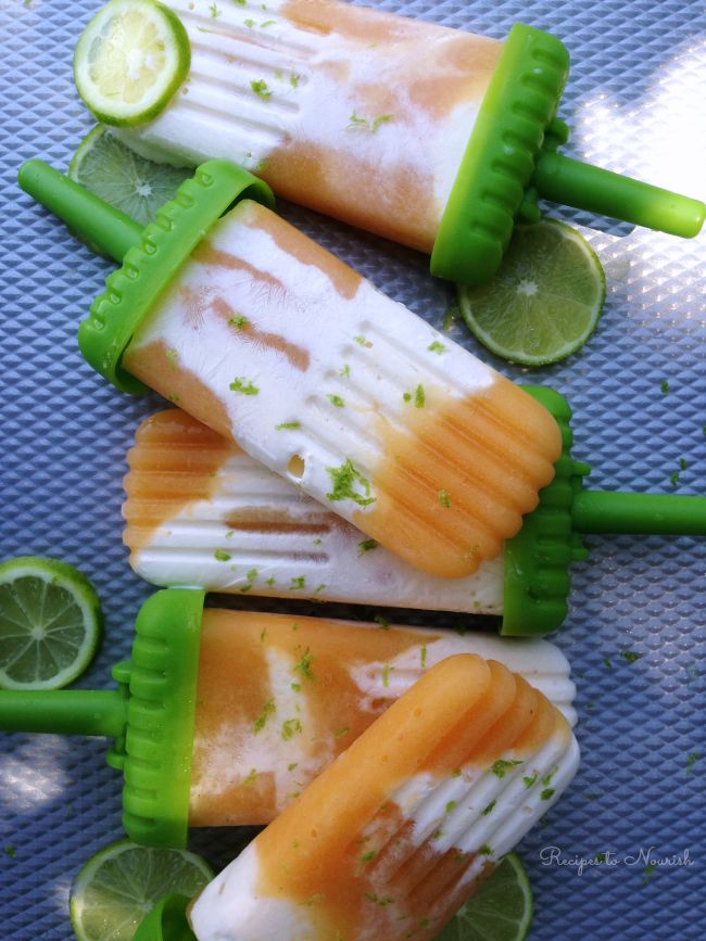 Peach Lime Creamsicles | Delicious Obsessions