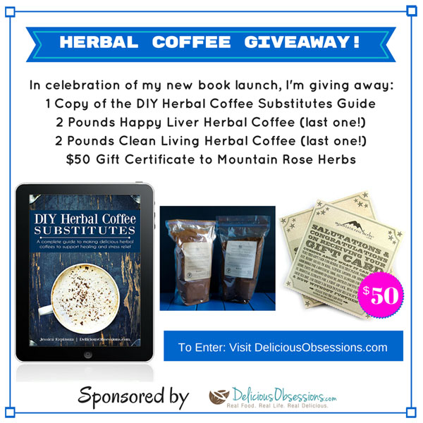 Giveaway :: DIY Herbal Coffee Guide Launch Celebration // deliciousobsessions.com