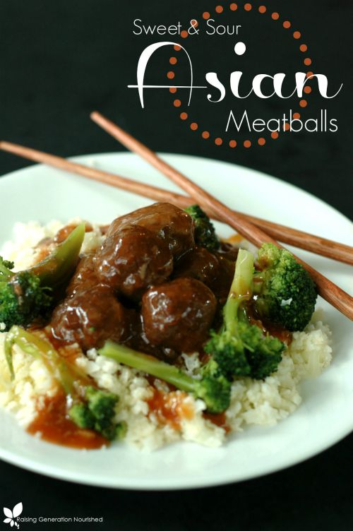 Sweet and Sour Asian Meatballs :: Gluten-Free, Grain-Free, Dairy-Free