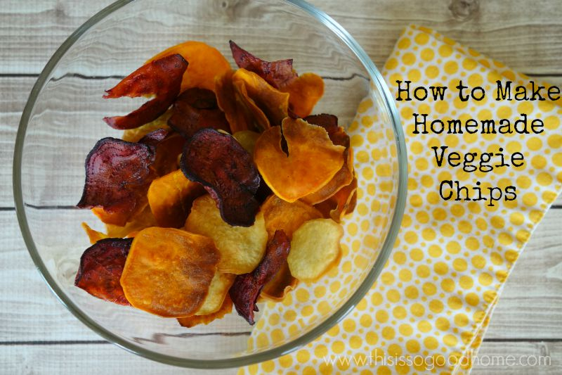How to Make Homemade Baked Veggie Chips