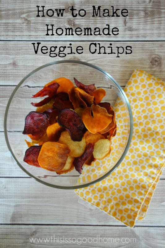 How to Make Homemade Veggie Chips // deliciousobsessions.com
