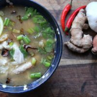 Asian Chicken Congee and Sweet Potato Coconut Curry Congee