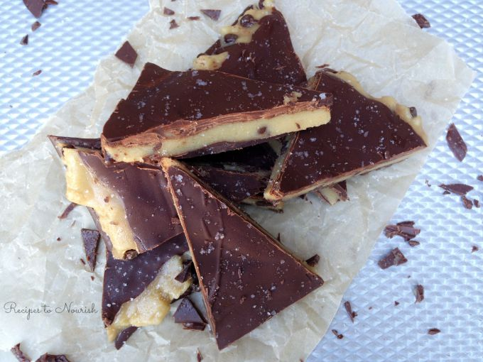 Sea Salted Cookie Dough Bark :: Paleo, Gluten-Free, Grain-Free, Egg-Free // deliciousobsessions.com