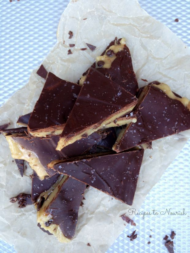 Sea Salted Cookie Dough Bark   Delicious Obsessions