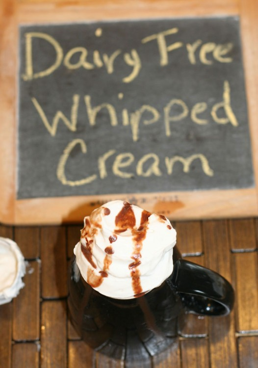 Quick and Easy Dairy Free Whipped Cream // DeliciousObsessions.com