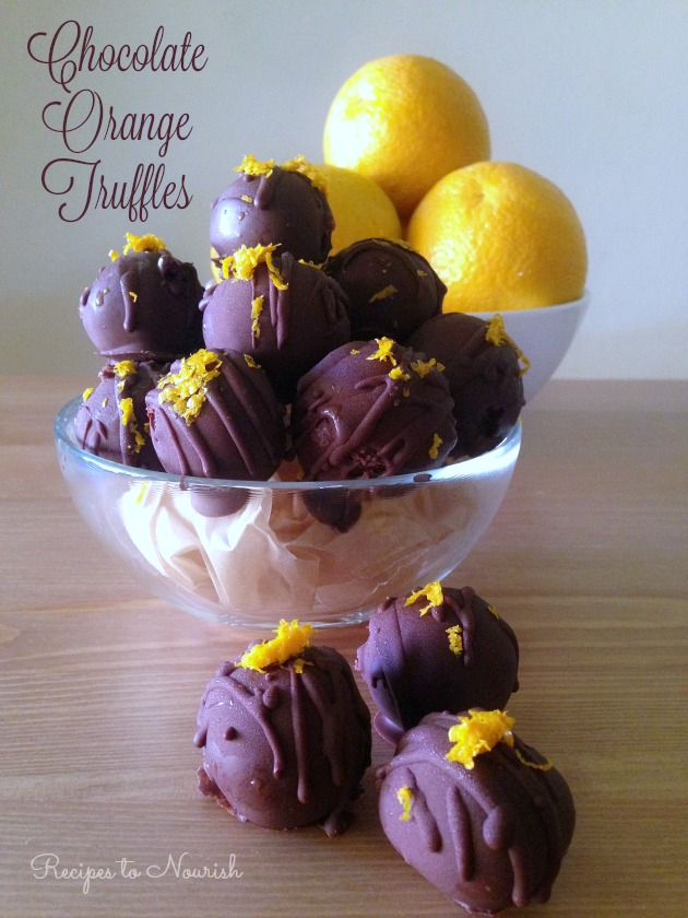 Chocolate Orange Truffles ... these homemade little bites are so delicious + fun to make! They make a perfect holiday treat too! #realfood #paleo   Delicious Obsessions