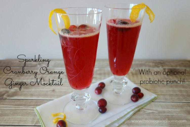 Sparkling Cranberry Orange Ginger Mocktail :: Gluten-Free, Paleo // deliciousobsessions.com