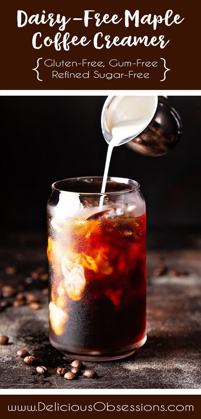 Dairy-Free Maple Coffee Creamer :: Gluten-Free, Gum-Free, Refined Sugar-Free // deliciousobsessions.com