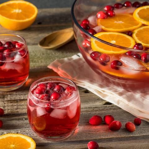 Sparkling Cranberry Orange Ginger Mocktail :: Refined Sugar-Free, Alcohol-Free