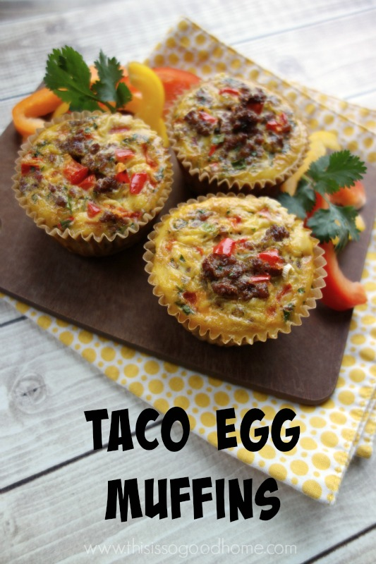 Taco Egg Muffins (21DSD, SCD, Paleo) / deliciousobsessions.com