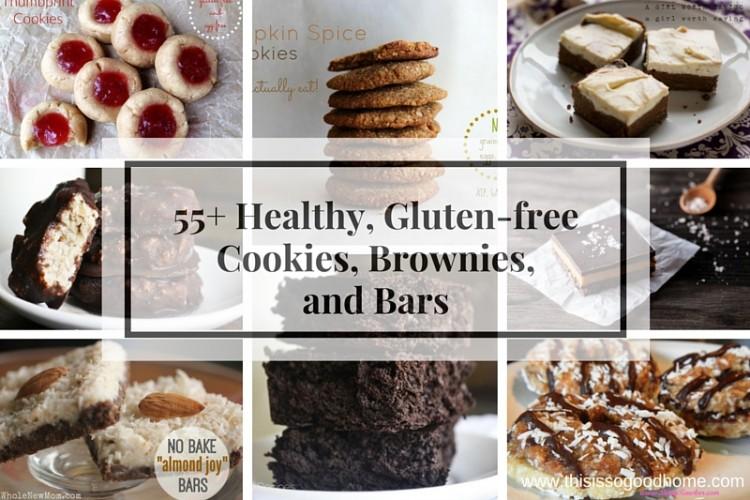 55+ Healthy, Gluten-free Cookies, Brownies, and Bars